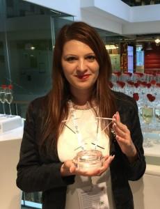 Szaladják Linda a Google európai díjátadóján
